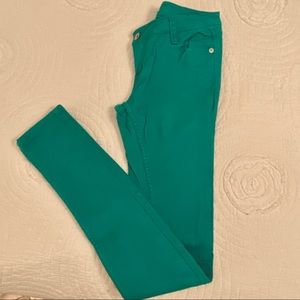 Paris Blues Teal Skinny Jeans Size 11
